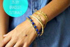 25 DIY Bracelets (Tutorials)