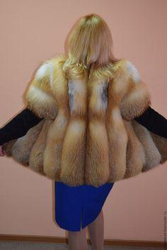 Купить Жилет из меха лисы,с рукавом - жилет из лисы, меховой жилет из лисы, жилетка из меха