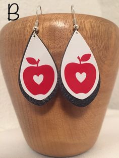 Excited to share the latest addition to my shop: Teacher Faux Leather Earrings Diy Leather Earrings, Beaded Earrings, Earrings Handmade, Beaded Jewelry, Hair Ornaments, Native American Jewelry, Handmade Items, Teacher, Etsy Shop