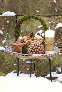 Pinecones + Nuts Decor