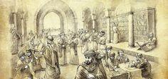 Bait al-Hikmah (House of Wisdom) in Baghdad, Abbasid Empire Bagdad, House Of Wisdom, Abbasid Caliphate, Muslim Culture, History Class, Europe, Algebra, Cairo, Ancient Egypt