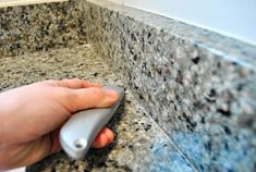 Removing The Side Splash & Backsplash From Our Bathroom Sink   Young House Love