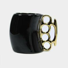 Fist Mug Black Gold