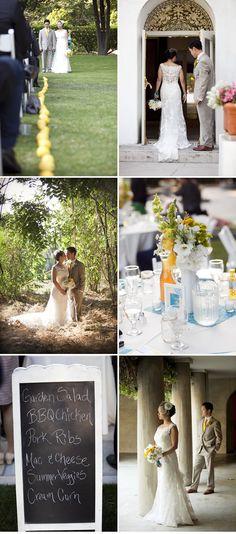 Yellow and Blue Summer Wedding: Carolyn + Timothy | WeddingWire: The Blog