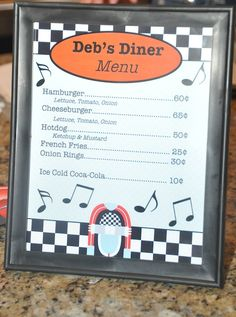 fashion 50s diner | ... set tables both inside and outside for our nearly 50 guests to eat at