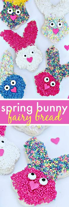 Easter Fairy Bread - Fun bunny treats that kids will love. Make this super easy and fun Bunny Fairy Bread with your children.