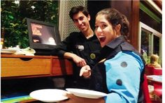 @Maria-Elena Kassab plays server for a day at Crepaway... and manages not to break anything
