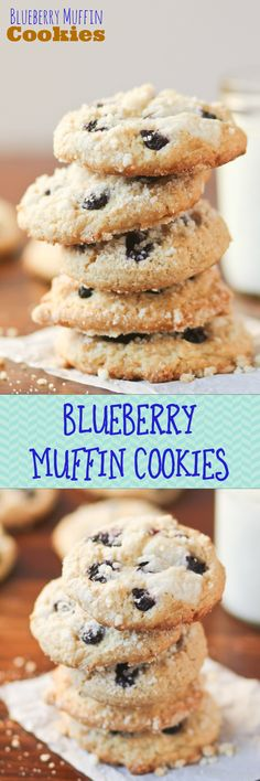 Blueberry Muffin COOKIES!! I think this means that they are acceptable for breakfast. I'm sold :)