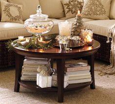 Metropolitan Round Coffee Table, PotteryBarn.com