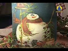 Tudo Artesanal | Pote de Palmito com Boneco de Neve por Diná Rocha - 10 de Novembro de 2012
