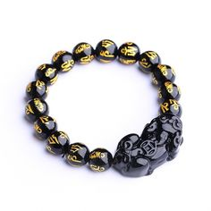 Natural New Fashion Boutique Obsidian  Bracelet,Lucky Pixiu Agate Stone Bracelets & Bangles for Men and Momen Jewelry Jade