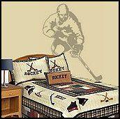 hockey bedroom ideas for boys | bedrooms - sports bedding - boys all sports bedroom decorating ideas ...