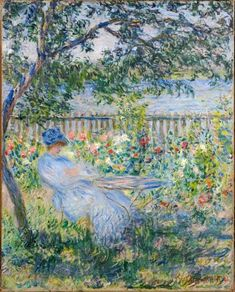 The Terrace at Vetheuil, 1881 ~ Claude Monet ~ (French: 1840-1926)