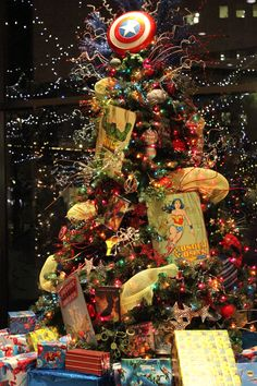 The #Boise Festival of Trees officially kicks off #Christmas season starting Nov. 26 and running through Dec. 2. This epic Super Hero Tree was a highlight of last year's event. #DowntownBoise
