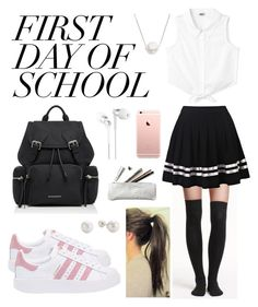"""""""school Outfit"""" by flie9enpilz on Polyvore featuring H&M, adidas Originals, Burberry and Chan Luu"""