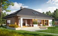 Modern beach house design in the philippines — nice basket ideas Simple Bungalow House Designs, Bungalow Haus Design, Modern Bungalow House, Bungalow Homes, Bungalow House Plans, Modern House Design, Home Design, Design Ideas, Loft House