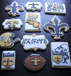 NFL Saints Cookies. Amazing!!