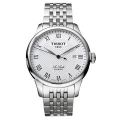 Tissot Mens T41148333 Le Locle Silver Textured Dial Watch
