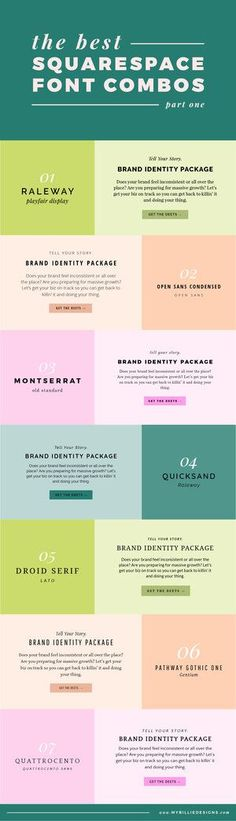 The best Squarespace font combinations for your business (part one)!