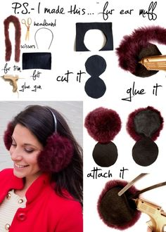 Fur Ear Muffs | 17 DIY Accessories To Keep You Cozy This Winter