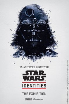 """Promotional poster for """"Star Wars Identities: The Exhibition"""" by Bleublancrouge"""