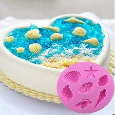Bake navy theme desserts! Sea shells silicon chocolate mold at $5.94