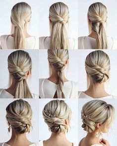 18 tutorials fr hochzeitsfrisuren fr brute und brautjungfern braute brautjungfern hochzeitsfrisuren tutorials new long wedding hairstyles and updos from hair by hannah taylor hair hairstyles hannah long taylor updos wedding Wedding Hairstyles Tutorial, Bride Hairstyles, Easy Hairstyles, Hairstyle Tutorials, Bridal Hair Tutorial, Hairstyle Ideas, Bridesmaid Hair Tutorial, Beautiful Hairstyles, Hairstyles For Dresses