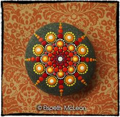 Inspiration - Jewel Drop Mandala Stone by Elspeth McLean - colourful dotty
