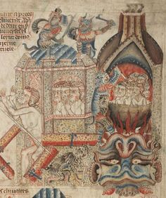British Library, Add MS 47682, detail of f. 34r. Bible (the 'Holkham Bible Picture Book') c. 1327-1335