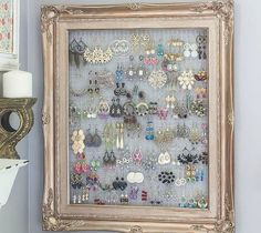 s 25 awesome things you didn t know you could do with old picture frames, crafts, repurposing upcycling, Cover one with wire for a jewelry organizer