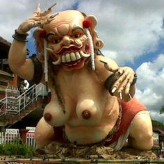 Ogoh-ogoh, festival to welcome the holiday Nyepi at Bali.