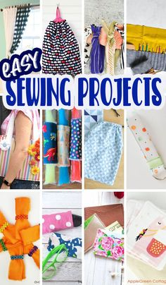 What a fun list of easy sewing projects for beginners! Tons of fun simple sewing projects to help you dust off that sewing machine {or open the box} and get sewing. Step by step instructions to make learning to sew fun. via @lifesewsavory