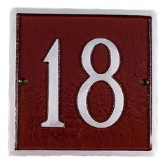 Montague Metal Products Petite Classic Square Address Plaque Finish: Navy / Gold, Mounting: Lawn