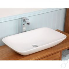 Alabama Rectangular Countertop Basin - This wide countertop basin exudes grandeur. Its curved splayed rectangular shape would make this a great centerpiece of any luxurious bathroom. Countertop Basin, Countertops, Vessel Sink Vanity, New Bathroom Ideas, Master Bathroom, Bathroom Sinks, Bathrooms, Home Reno, Bathroom Renovations