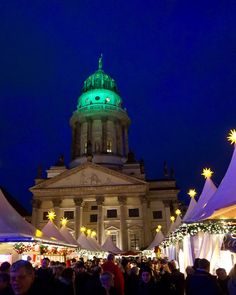 Advent is the time for Christmas markets: there are about sixty markets across the city.  Weihnachtsmärkte is one of the most popular Christmas markets in Berlin during the festive season. Framed by the Französischer Dom, the Konzerthaus and the Deutscher Dom, a small tent city with more than 1,000 strings of light appears like magic each year in this centrally-located square. #Berlin