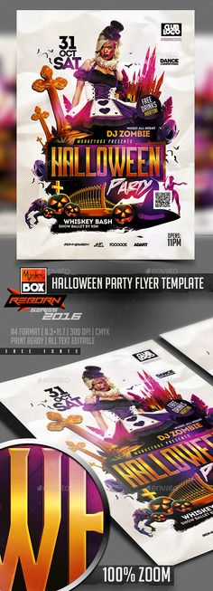 Halloween Horror Nights - zombie flyer template
