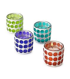 LivingQuarters Dot Votive Holder | Bon-Ton