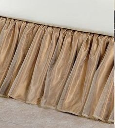 Custom Charmeuse Silk Bed Skirts and Dust Ruffles. Beautiful and functional custom drop silk charmeuse bed skirts and dust ruffles, custom made in the USA. Best Bedding Sets, Bedding Sets Online, Linen Bedroom, Bedroom Decor, Bedroom Ideas, Master Bedroom, Cheap Bed Linen, Neutral Bed Linen, Restoration Hardware Bedding