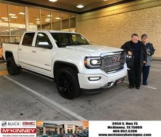 https://flic.kr/p/PtnbJF   Donna and her new 2017 GMC Sierra White Frost Denali Ultimate.