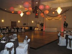 lantern, chocolates, dance floors, chocolate brown, burnt orange, orange weddings, oranges, ceilings, recept idea