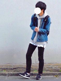 デニムのコーチジャケット×デカめのグレーパーカー 【WEAR×Levi's®︎】という事で 2月24日(金)より発売される『501®︎Skinny』を 一足早く着てみました( ・◡・` ) 気になる方は要チェックです♂️ Korean Outfits, Boy Outfits, Dress Outfits, Casual Outfits, Dresses, Kpop Fashion, Mens Fashion, Fashion Outfits, Drawing Clothes