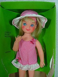 Another favorite doll was Tutti, Barbie's really little sister. I think I identified with her because I was little and wanted a little sister to play with.