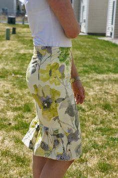 Elizabeth Avenue: Ruffled Pencil Skirt Tutorial (Anthropologie Inspired)