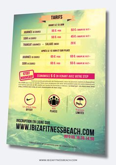 Info & Inscription www.ibizafitnessbeach.com