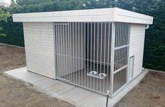 Luxury Dog House, Brick Effect Wallpaper, Dog Kennel Designs, Dog Spaces, Outdoor Sheds, Dog Houses, Dog Bed, Pergola, Bedroom Decor