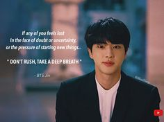 Quoted speech of BTS members.     #bts #btsedits #btsquotes #btsjin #jin #jinbts #jinedit #kimseokjinbts #kimseokjin #seokjin #seokjinbts #seokjinnie #seokjinedit #quotes #quotesaboutlife #lifequote #visual #btsmembers #worldwidehandsome Bts Lyrics Quotes, Bts Qoutes, Kpop, Bts Army Logo, Army Quotes, Sunset Quotes, Bts Facts, Real Life Quotes, Bts Aesthetic Pictures