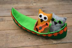 Owl & the Pussy-cat Sewing Pattern & Tutorial make your own owl and pussy-cat in their pea green boat with our free pattern and tutorial.
