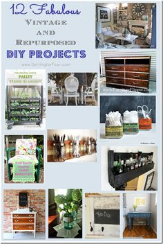 The best DIY projects & DIY ideas and tutorials: sewing, paper craft, DIY. DIY Furniture Plans & Tutorials : 12 Fabulous Vintage and Repurposed DIY Projects from Setting for Four -Read Upcycled Crafts, Repurposed Items, Repurposed Furniture, Diy Crafts, Decor Crafts, Furniture Projects, Furniture Makeover, Diy Furniture, Antique Furniture