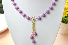 How to Make Chic Handmade Jewelry Sets with Purple Jade Beads - Pandahall.com by Jersica