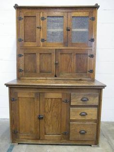Oh my lord in heaven, I can see this in my kitchen... Columbus Architectural Salvage - Antique Oak Hoosier Cabinet